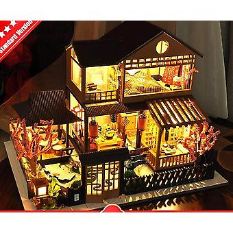 3d Miniaturas Box Diy Trä Dollhouse Kits