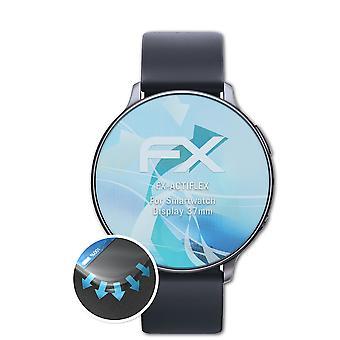 atFoliX 3x Schutzfolie kompatibel mit Smartwatch Display 37mm Folie klar&flexibel