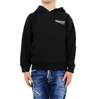 Balenciaga هودي للأطفال الأسود 558143TIVB41070 الأعلى