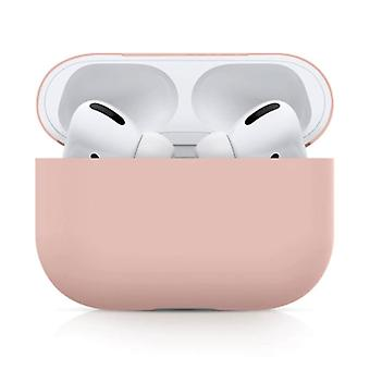 SIFREE Flexible Case for AirPods Pro - Silicone Skin AirPod Case Cover Smooth - Pink