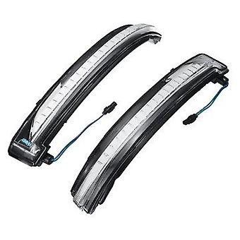 LED Side Wing Mirror Turn Indicator Lights Black/Clear Lens for Nissan Qashqai