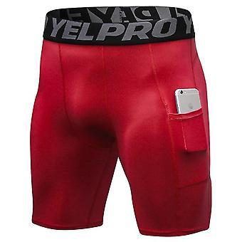 Elastic Mens pantaloni scurți de compresie, Crossfit de vară Bodybuilding Pantaloni scurți cu