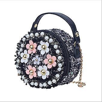 Blume Schultertaschen, Pu Leder Messenger Bag
