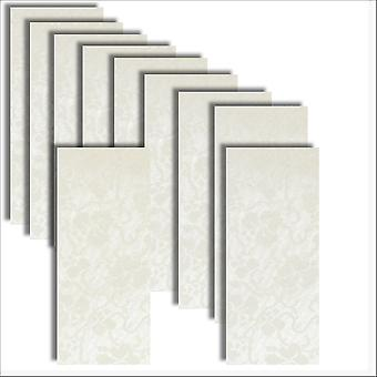 10 Dandy White Broderie Card Inserts DL Size 1 (Large)