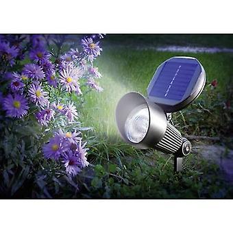 Esotec Solar garden spotlight Spotlight 102138 LED (monochrome) Cool white Black