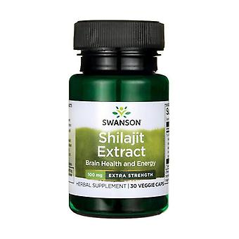 Superior herbs shilajit extract - extra strength 100 mg 30 vegetable capsules of 100mg