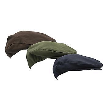 Walker & Hawkes - Uni-Sex Moleskin Flat Cap Country Waterproof Hat