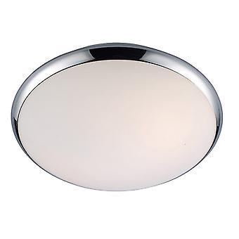 Italux Kreo - Modern Flush Deckenleuchte Chrom, Weiß 2 Licht mit weißem Farbton, E27, IP44