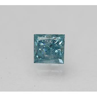 Cert 0.79 カラット スカイ ブルー プリンセス 強化ナチュラル ルーズ ダイヤモンド 4.87x4.62mm