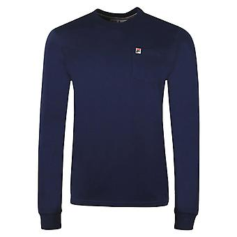 Fila Thames Long Sleeve T-Shirt Navy 24