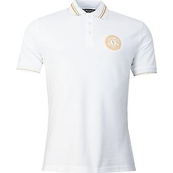 Versace Jeans Couture Embroidered Circle Logo Polo Shirt