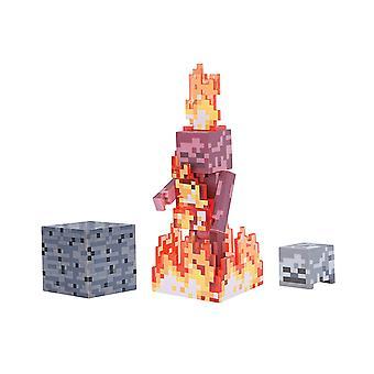 Minecraft 3 hüvelykes cselekvési ábra-csontváz a Fire-19974