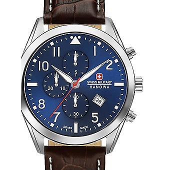 Reloj masculino militar suizo Hanowa 06-4316.04.003, cuarzo, 43 mm, 10ATM