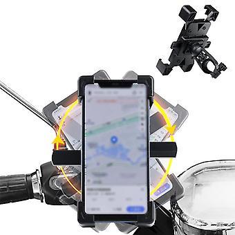 Wheel up ct01 360 ° rotatie mechanische slot motorfiets fiets stuur mobiele telefoon houder staan voor apparaten tussen 4,5-6,5 inch