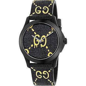 Gucci Men's Ghost Black Dial Watch - YA1264019