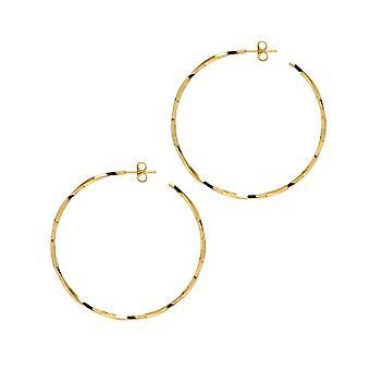 The Hoop Station La LAGO Di COMO Gold Plated 46 Mm Hoop Earrings H95Y