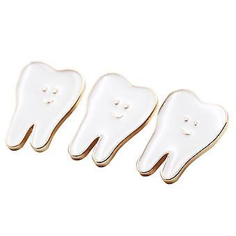 Dental Teeth Shape Tooth Brooch Decoration Molar Badge Hygienist Pin