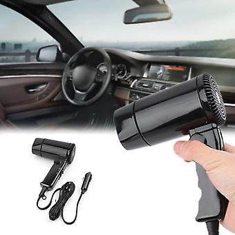 Portable 12v Car-styling Hair Dryer Hot & Cold Folding Blower Window Defroster