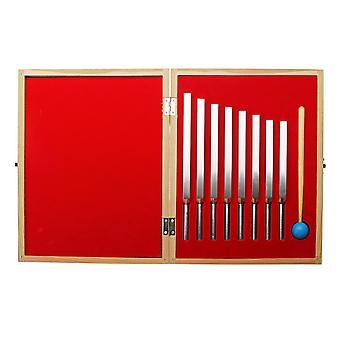 8kpl alumiininen lääketieteellinen virityshaarukka ääniterapiaan Mallet Box -musiikkiinstrumentti
