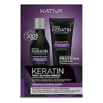 Brazilian Hair Straightener Set Kativa Keratin (2 pcs) (250 ml + 200 ml)