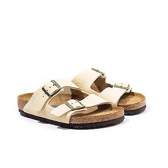 Birkenstock Arizona Nubuck Leather Sandals - Desert Almond