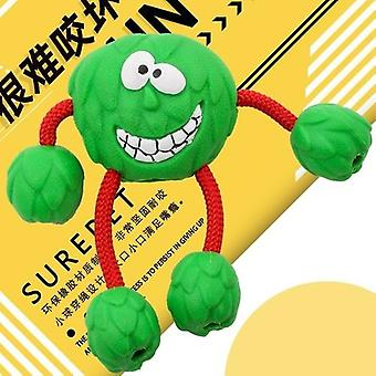 Smil Hund Gummi Ball Sound Molar Tænder Resistent