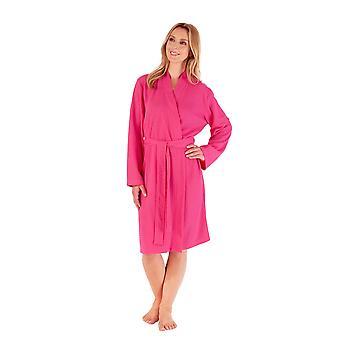 Slenderella HC3300 Women's Raspberry Dressing Gown