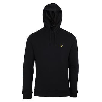 Lyle & scott men's jet black pullover hoodie