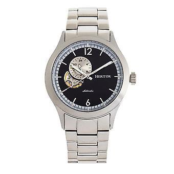 Heritor Antoine Automatic Black Dial Men's Watch HR8502