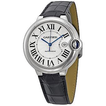 Cartier Ballon Bleu Automatic Silver Dial Men's Watch W69016Z4