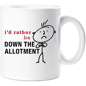 60 Second Makeover Mens I'd Rather Be Down The Allotment Mug Cup