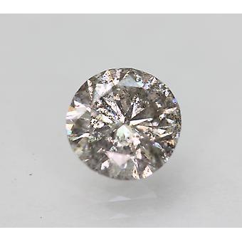 Cert 1.06 Carat Grey Silver SI2 Rund Briljant Förbättrad Naturlig Diamant 6.63mm