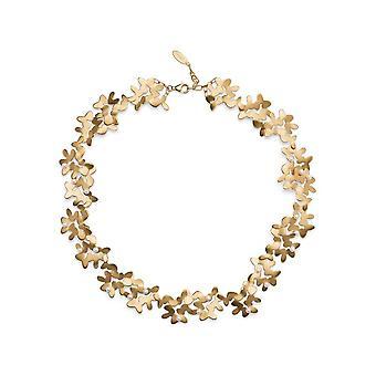 Bastian Inverun silver collier gold plated sandmatt breeding pearls white 47+3cm 25590