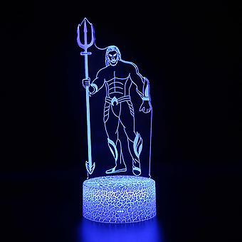 Lampes 3D avec télécommande, lampe LED 16 Color Light Dimmable Touch Switch USB / Battery Insert, Cadeau de Noël décoration d'anniversaire pour bébé enfant teen woman man-#825