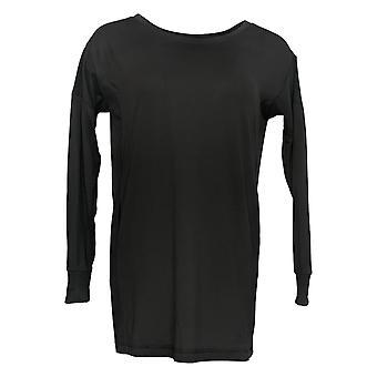 Carole Hochman Women's Petite Top Jersey Black A381871