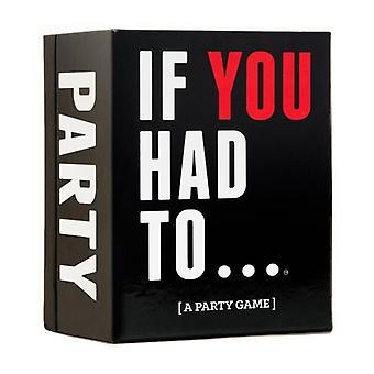 Om du var tvungen. partyspel
