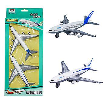 2 قطعة من الأطفال & ق محاكاة سحب سبائك طائرة لعبة بوينغ 777 نموذج طائرة نموذج الطائرة لون مربع الأطفال & ق هدية
