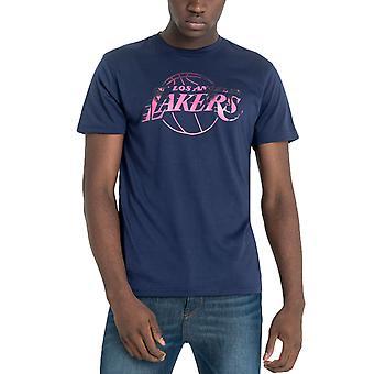 New Era Miesten LA Lakers NBA Summer City Print Crew T-paita Toppi - Violetti