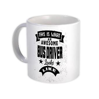 ספל מתנה: זה מה נהג אוטובוס מדהים נראה כמו עבודה