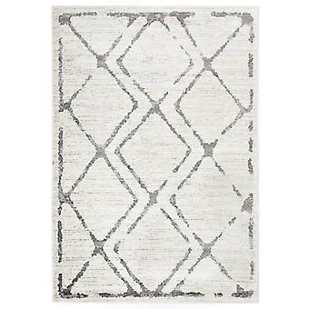 vidaXL Carpet Cream and Grey 80 x 150 cm PP