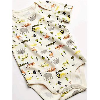 Essentials Baby Boy's 3-Piece Microfleece Hoodie Set, Safari, Newborn