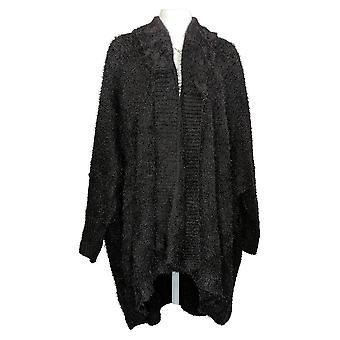 All Worthy Hunter McGrady Women's Sweater (XXL) Cardigan Black A388495