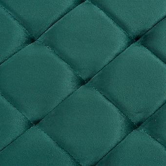 vidaXL Banco 97 cm Terciopelo Verde y Acero Inoxidable