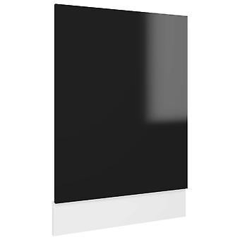 vidaXL Vaatwasser hoes hoogglans zwart 45x3x67 cm spaanplaat
