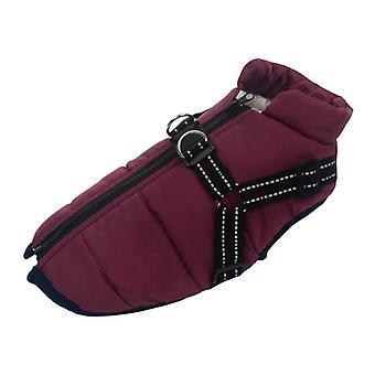 Dog Jacket, Winter Soft Warm With Harness Waterproof Coat