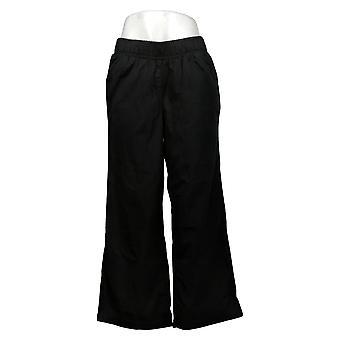 DG2 by Diane Gilman Women's Pants M P SoftCell Denim Wide-Leg Black 698804
