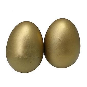 Para 40mm ovos de ouro plástico shakers maracas baby kid rattle toy pack de 2 WS2320