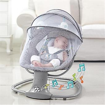 Vauvan sähköinen keinutuoli, vastasyntyneet nukkuvat kehdon sängyn mukavuus makuulla