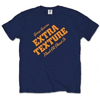 George Harrison Extra Texture Mens Navy T Shirt: X Large