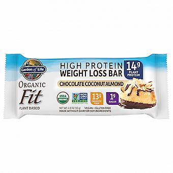 Jardin de vie Organic Fit Bar Chocolat Noix de Coco Amande, 12 Compte